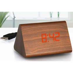 A 110 Wodden Led Table Clock With Usb Cable