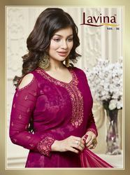 Lavina Unstitched Purple Suits