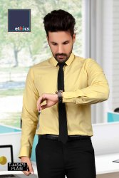 Yellow Uniform Shirts for Corporate Workforce T-445479