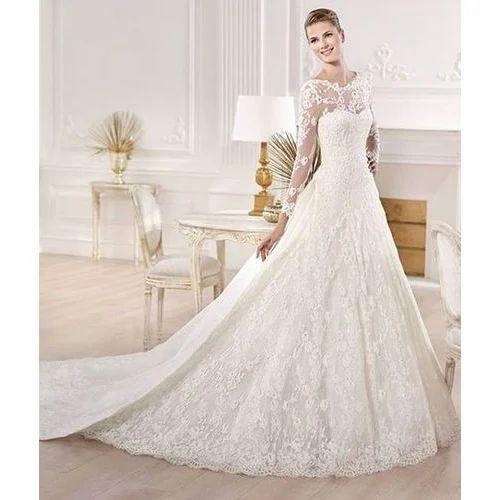 0be882e17f34 White Designer Brides Gown