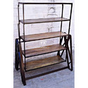 Hotel Furniture Etagere - Industrial Bookcase in Reclaimed Wood - Resort Bookcase and Bookshelf