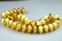 Copper Beads Center Drilled Gold Plated Japanese Cap Beads