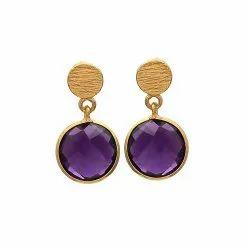 Vermeil Gold Bezal Set Earring
