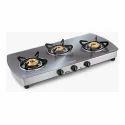 Silver 3 Burner Gas Stove