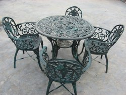 4 Seater Cast Iron Table Chair