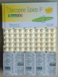Olanzapine 2.5 mg, 5 mg & 10 mg