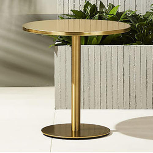 Glass Round French Bistro Table, French Bistro Furniture