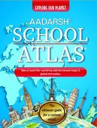 Aadarsh School Atlas (English), school Book