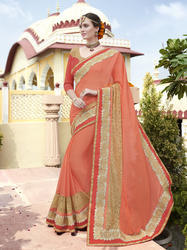 Royal Orange Look Saree