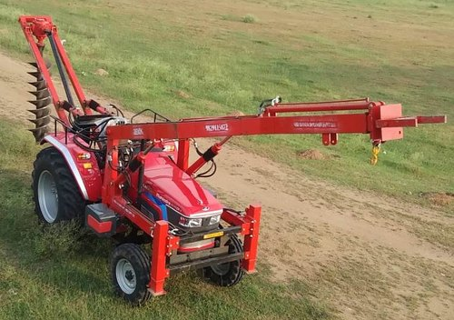 Tractor Mounted Crane/pole Lifter With Hydraulic Digger
