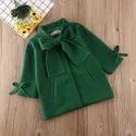 Green Girl Kids Trench Coat