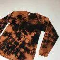 Round Neck Cotton Tie & Dye Full Sleeve T Shirt, Size: S To 2xl, Age Group: Men