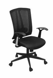 Medium Back Black Ergonomic Office Chair