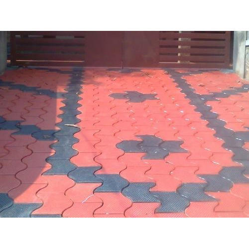 Red And Black Concrete Interlocking Floor Tiles 12 14 Mm Rs 11