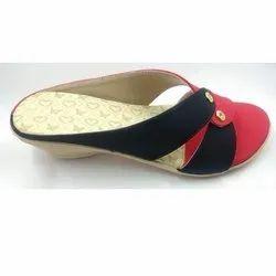 Heels PVC Ladies Designer Heel Slipper, Size: 6