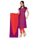 Magenta Print Bandhani Suit