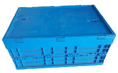 Blue Rectangular Plastic Foldable Crate, Capacity: 150 -300 Kg, Size: 540 x 360 x 290 mm