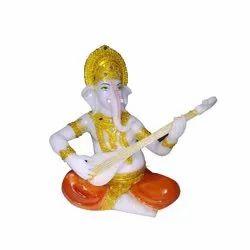 Marble Designer Ganesh Ji Statue, Packaging Type: Box, Size: 14 Inch