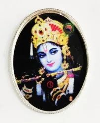 Krishna Color Silver Coin 10 gm