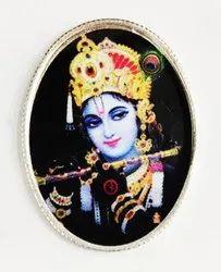 Krishna Color Silver Coin 10 gm