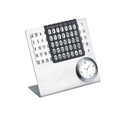 Desktop Calendar with Watch