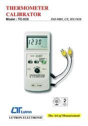 Thermometer Calibrator Lutron Model : Tc-920