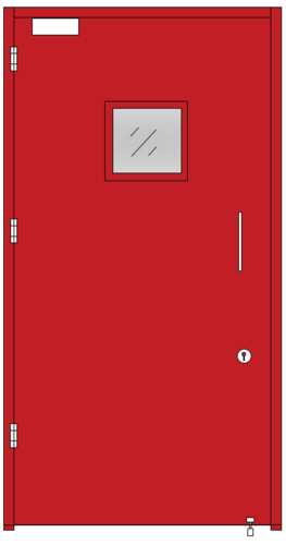 fire safety doors single leaf with glass panel at rs 16300 number