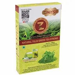 Zingysip Strong Green Tea Natural -100 Gm. - Prepare in 5 Seconds