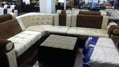 Foam L /3 1 1 Teak/ Leather/ Fabric Sofa Set