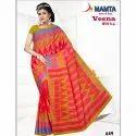 Mamta Printed Ladies Classic Ethnic Designer Saree 6 M (with Blouse Piece)