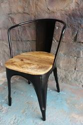 Nd Art Export Black and Sky Blue Tolix Chair