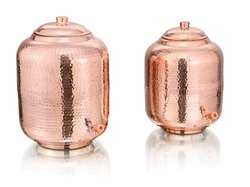 Water Container Round Copper Matka, For Water Storage