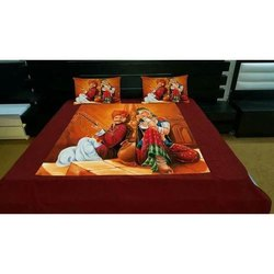 Digital velvet bed sheets