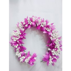 Pink Artificial Flower Hair Bun
