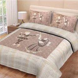 Dandiya Print Rajasthani Double Bed Sheet