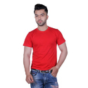 Casual Wear Solid Mens Red T-Shirt