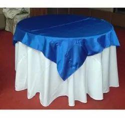 Round Fabric Crush Overlay Table Cloth