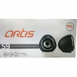 950w Pmpo Black ARTIS S9 2.0 USB Multimedia Speaker System