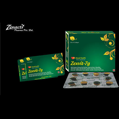 Zexvit-7g Curve Softgel Capsule, Packaging Type: Blister