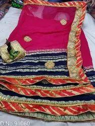 Chiffon Zari Pattern Catalogue Saree