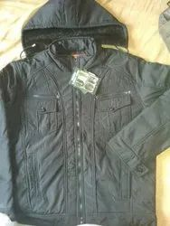 Casual Wear Mens Black Full Sleeve Padded Jacket