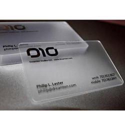 Transparent Visiting Card