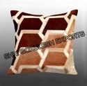 Abstract Leather Pillow Covers