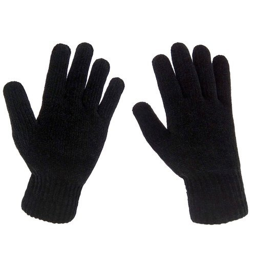 Black Knitted Hand Gloves
