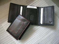 RFID Men Trifold Leather Wallet, Size: 11 x 7 cm