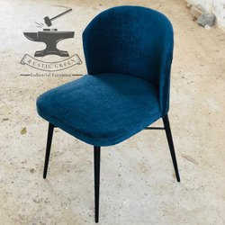 Iron (Frame) Rustic Green Restaurant Chair, Size: 45x45x85 Cm