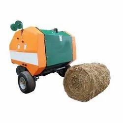 Round hay binder