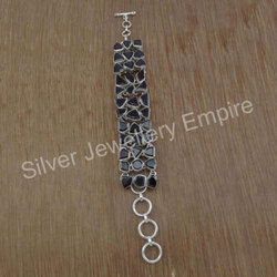 925 Sterling Silver Jewelry Bracelet Garnet Gemstone