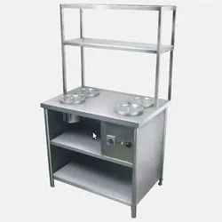 SS Service Counter With Rack
