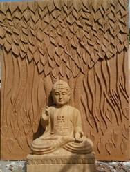 Stone carving lord budha